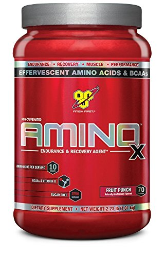 BSN AMINO X Endurance & Recovery Powder with 10 Grams of Aminos Per Serving, Flavor: Fruit Punch, 70 Servings