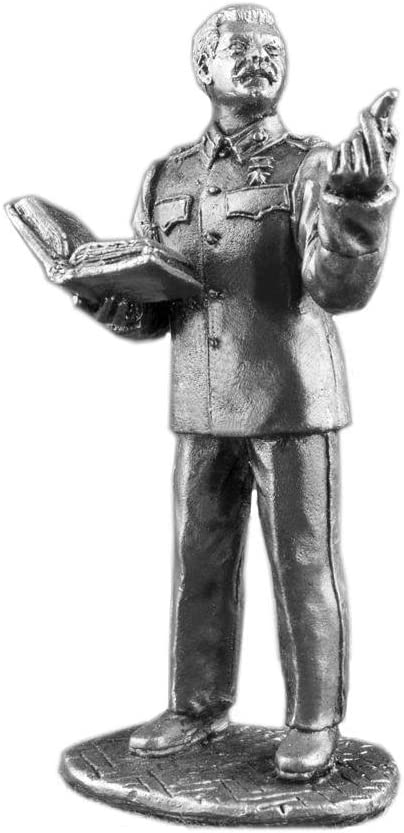 Ronin Miniatures World War 2 Soviet Er Stalin UnPainted Tin Metal 54mm Action Figures Toy Soldiers Size 1/32 Scale for Home Décor Accents Collectible Figurines Item #Stalin1
