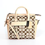 Coach 30168 Bleecker Signature Mini Riley Carryall Light Khaki Madeira/vch