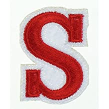 RECHERE 26 letter Alphabet Uppercase Embroidered Iron On Patch Applique (S)