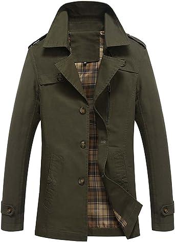 Coat Homme Pardessus Trench Chaud Longue Manteau Revers Veste f7gyb6Y