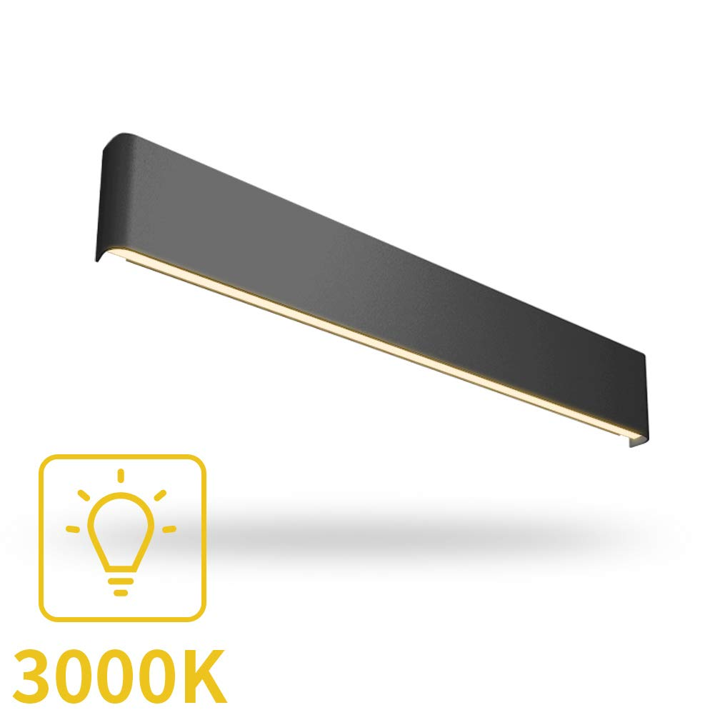 Aipsun 30W/32.6in Indoor Modern Rectangular LED Wall Mount Sconce Up and Down Wall Light Vanity bar Light Bedroom Living Room Bathroom Pathway Staircase Lighting Fixtures(Warm White 3000K)