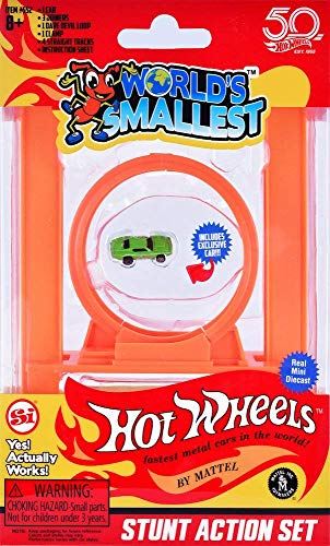 Worlds Smallest Hot Wheels Mini World Complete Collection. Includes Drag Race, Hot Curves & Stunt Action Sets & Classic Rally Case. Collection Includes 5 Exclusive Hot Wheels Cars! by Worlds Smallest (Image #2)