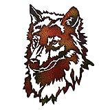 Black Forest Decor Wolf Metal Wall Art