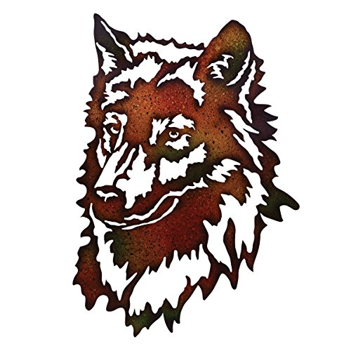 BLACK FOREST DECOR Wolf Metal Wall Art