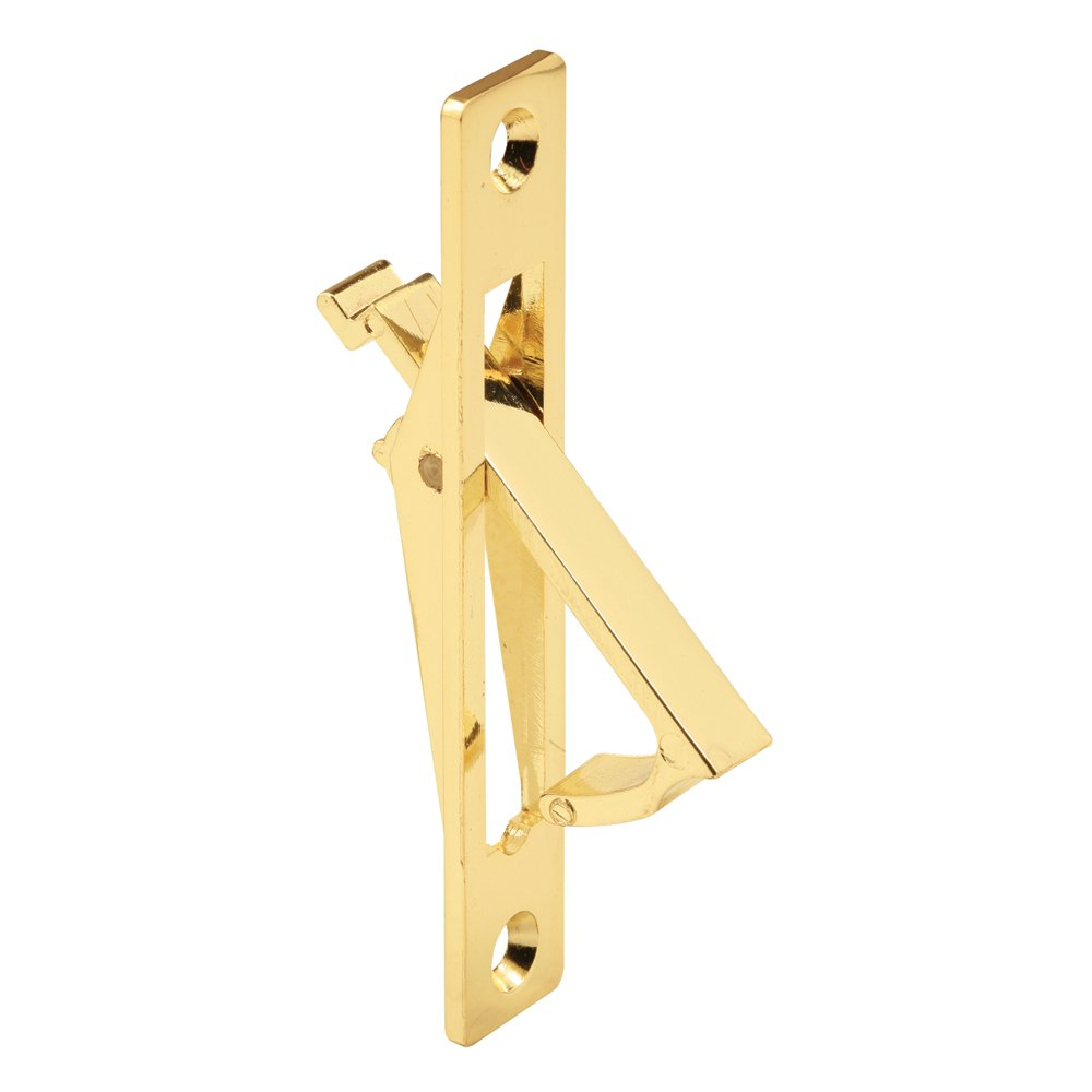 Prime Line Products N 6768 Prime Line Flush Mount Door Pull 3 1 2 in L X 5 8 in W X 3 4 in D Plated Brass
