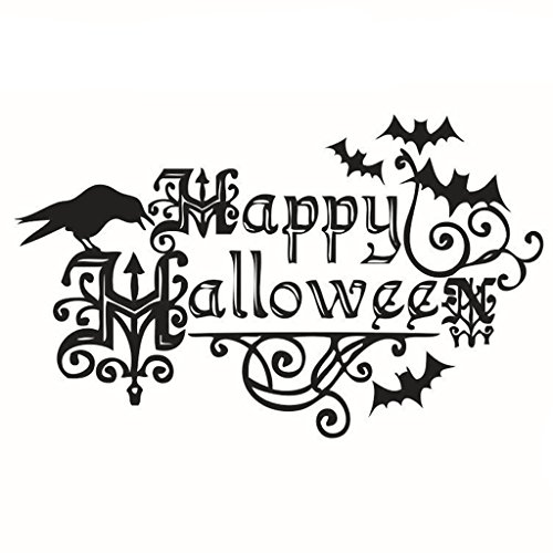 Timberlark Happy Halloween Wall Sticker Decorative Stickers Modern Removable Decal Vinyl Home (Alex Side Halloween)