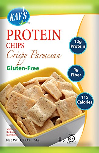 Kay's Naturals Protein Chips, Crispy Parmesan, Gluten-Free, Low Carbs, Low Fat, Diabetes Friendly All Natural Flavorings, 1.2 Ounce (Pack of ()
