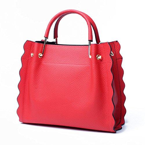 moda donna colore da capacità di da rosso grande Borsa verde taglia Bangxiu viaggio Borsa M vacchetta in pelle Messenger Borsa ZIOx5Iw7q