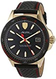 Ferrari Pilota Black Dial Leather Strap Men's Watch 0830490
