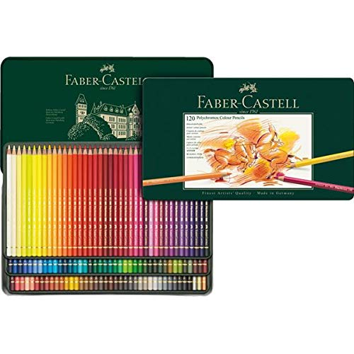 Faber-Castell Polychromos Artists' Color Pencils - Tin of 120 Colors - Premium Quality Artist Pencils by Faber-Castell (Image #2)