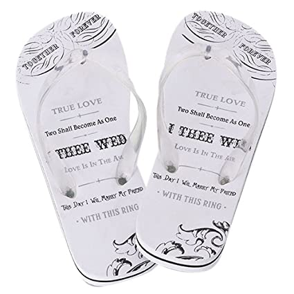 Lillian Rose Just Married Women's Flip Flops, Large, Size 9-10