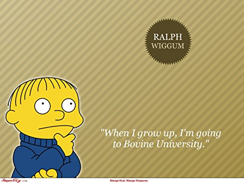 Unique Poster's The Simpsons Ralph Wiggum When I Grow Up TV Series Quoted Poster/Print 12 X 18 Inch Ultra HD Multicolour Unframed Rolled Great Wall -