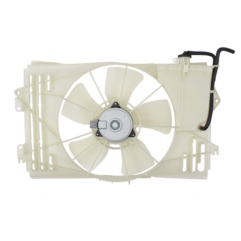 Radiator Cooling Fan Motor Assembly Replacement for 03-08 Toyota Corolla Matrix Pontiac Vibe 163610D090 88971521