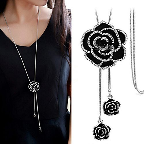 Shining Diva Fashion Jewellery Pendent for Girls with Long Chain Pendant Necklace for Women & Girls(Silver)(9279np) product image