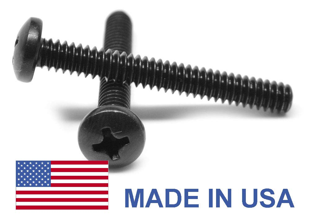 Qty 1000 Black Oxide Stainless Phillips Pan Head Machine Screw  4-40 x 3//8