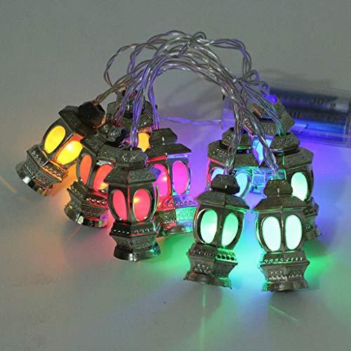 Yu2d  Ramadan/Eid Deluxe Indoor LED Light String Golden Lanterns (Multicolor)
