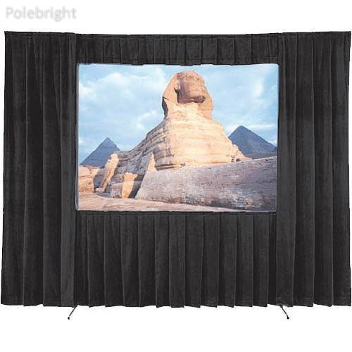 Drapery Kit for Fast-Fold Deluxe Projection Screen (9 x 12') - Polebright Updated 12' Fast Fold Drapery