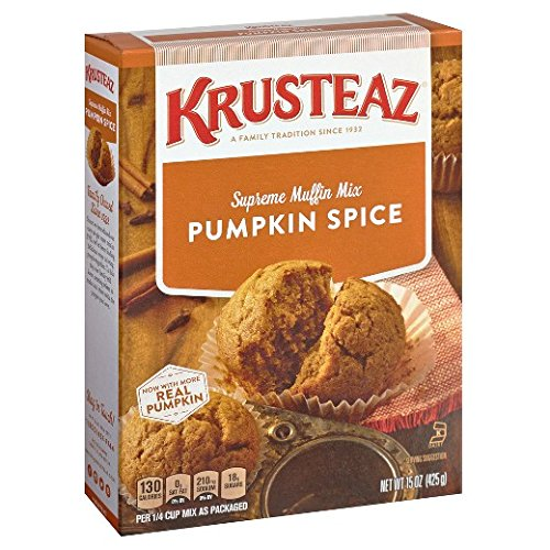 Pumpkin Spice Supreme Muffin Mix, 15oz, Pack of 2.
