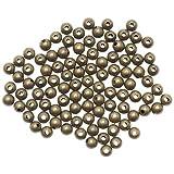 Beadaholique Sleek Round Beads, 4mm, Antiqued Brass