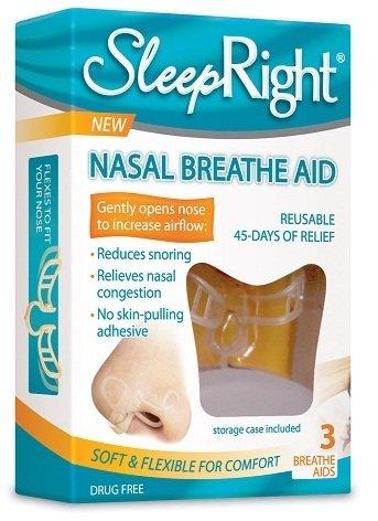 Sleep Right Nasal Breathe Aids (3) THREE PACK - Nasal Strip Alternative