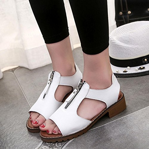 Deesee (tm) Dames Zomersport Casual Sandalen Schoenen Damesplateau Sandalen Sleehakken Wit