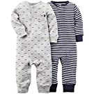 Carter's Baby Boys' 2 Pack Coveralls (Baby) - Navy - 3M