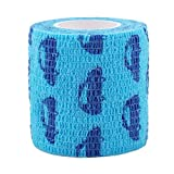 ZALING Pet Dog Cat Self-Adhesive Elastic Bandage Non-Woven Fabrics Blue Car