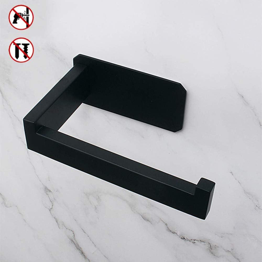 Celbon Badezimmer Selbstklebender Toilettenpapierhalter matt schwarz SUS 304 Edelstahl Toilettenpapierhalter ohne Bohren Einfache Installation