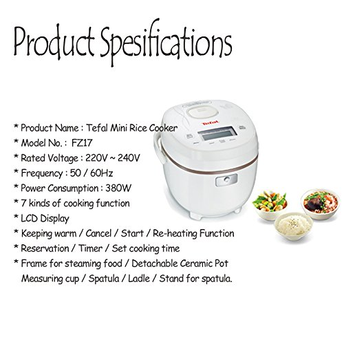 Tefal Compact Mini Rice Cooker Fz17 Electric Rice Steamer