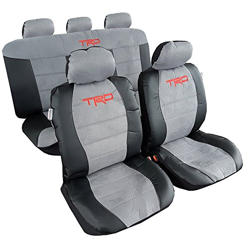 Universal Complete TRD Pro Suede Leather Car Seat Covers ...