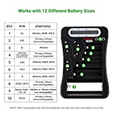 Tenergy T-333 Universal Battery Tester LCD Display Multi-Purpose Checker for Batteries (AA, AAA, C, D, 9V, CR123A, CR2, CRV3, 2CR5, CRP2, Button Cells)