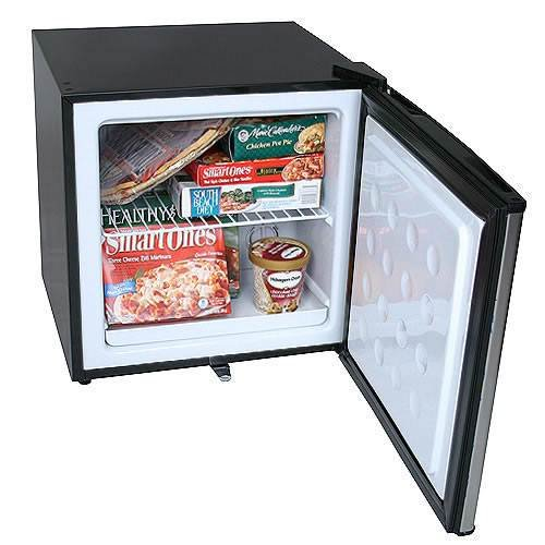 EdgeStar 1.1 Cu. Ft. Convertible Refrigerator or Freezer w/ Lock - Stainless Steel