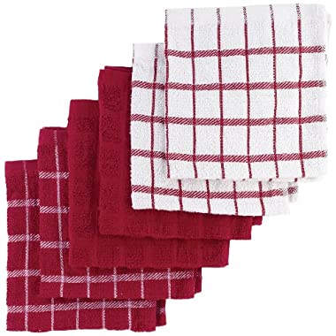 Ritz Terry Cotton Dish Cloths, Paprika, 6-Pack
