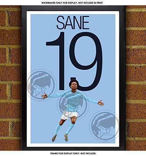 86681999f021 Amazon.com: Leroy Sané Poster - Manchester City Art: Handmade