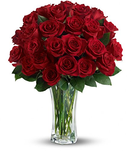 Chicago Flower Co. - Love and Devotion - 2dz Long Stemmed Red Roses - Fresh and Hand Delivered by Chicago Flower Company