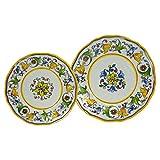 Le Cadeaux Melamine Capri - 16 Piece Dinner & Salad Plate Set