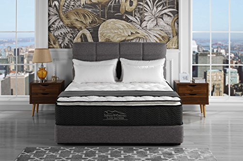 Swiss Ortho Sleep 12 inch Plush Pillow Top & Pocket Spring Mattress - Green Foam Certified (King)