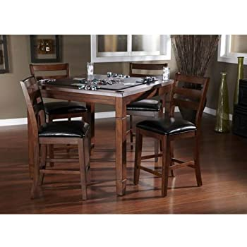 AHB Rosa Dining/Game Table with Flip Top - Mocha