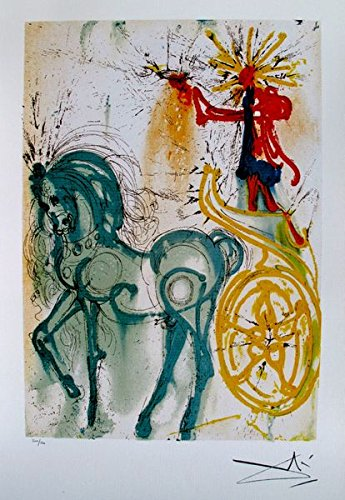 Wall Art by Salvador Dali Dalinean Horse Le Cheval De Triomphe Limited Edition Facsimile Signed Lithograph Print. After the Original Painting or Drawing. Measures 22 Inches X ()