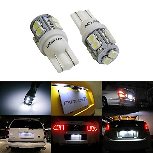 iJDMTOY-10-Xenon-White-10-SMD-360-Degree-Shine-168-194-2825-W5W-LED-Replacement-Bulbs-For-License-Plate-Lights-Also-Parking-Lights-Backup-Lights-Interior-Lights
