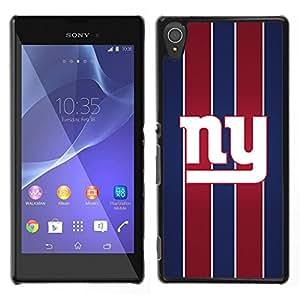 Nueva York - Metal de aluminio y de plástico duro Caja del teléfono - Negro - Sony Xperia T3