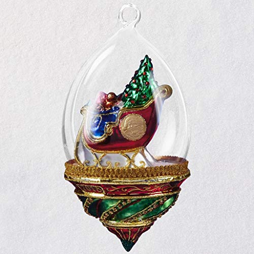 HMK Heritage Collection Ornament - Santa's Sleigh Dome