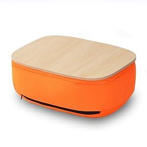 Xia Lazy Knee Bed Computer Desk Tablet Semplice Imbottito Vassoio Tavolo Cuscino lastra Tavolo 3 Colori Disponibili 26 * 36 * 15 cm (Colore : Orange)