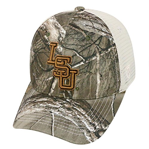 Top of the World Yonder Realtree Xtra LSU Tigers Louisiana State Trucker Hat