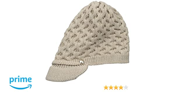 c6adc380 Calvin Klein Women's Honeycomb Cable Cabbie Hat, Heathered Almond, One Size  at Amazon Women's Clothing store: