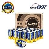 Best D Batteries - ALLMAX All-Powerful Alkaline Batteries - D 20-Pack Review