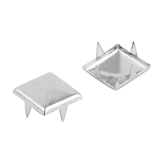 Amazon.com: eDealMax Metal Bolsa de Los Pantalones Vaqueros de Forma cuadrada DIY Decoración Rivet Studs de clavo 80pcs 10mm tono Plata: Home & Kitchen