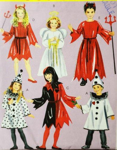 OOP McCall's Costume Pattern M5729. Children's.kids/boys/girls Szs 3/4;5/6 Court Jester; Clown; Devil; Angel - Jester Costume Pattern