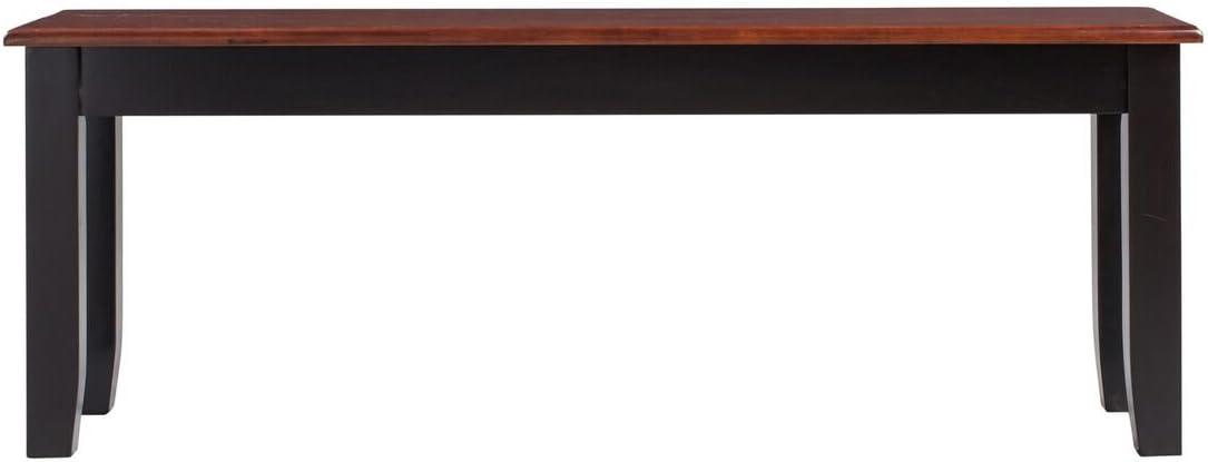 Boraam 21032 Bloomington Bench, Black/Cherry
